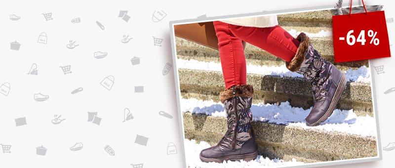 Зимние высокие женские сапоги Walkmaxx со СКИДКОЙ -64%!