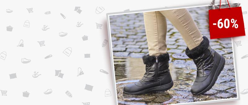 Зимние низкие женские сапоги Walkmaxx Comfort со СКИДКОЙ -60%!