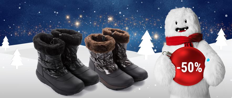 Зимние низкие женские сапоги Walkmaxx Comfort со СКИДКОЙ -50%!